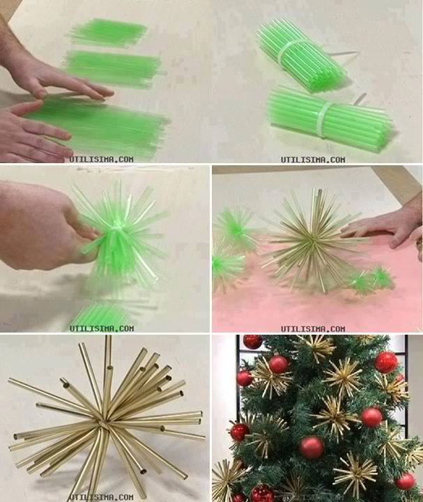 Cheap Straws Into Beautiful Gold Ornaments