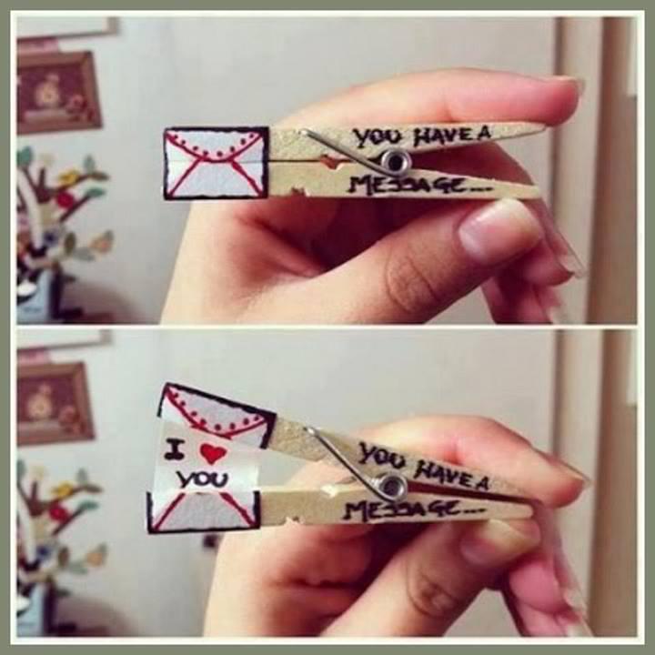 Clothespin Hidden Message Craft