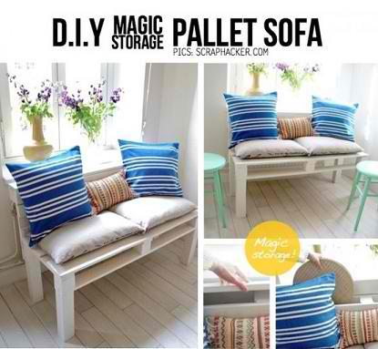 DIY Pallet Sofa Plans And Photos