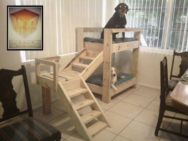 Doggy Bunk Bed From Pallets