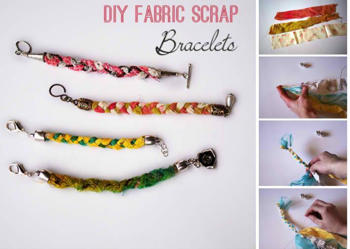 Fabric Scrap Bracelet Tutorial