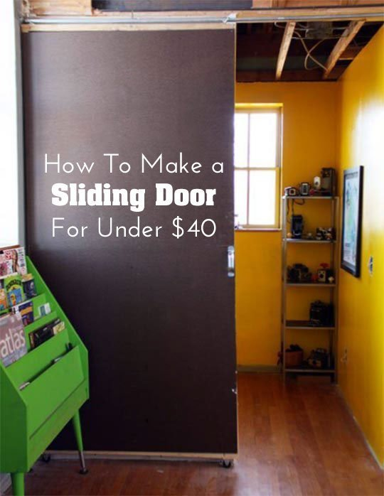 How to Make a Sliding Door for Only $40