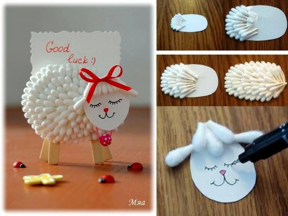 Lamb Place Card Craft