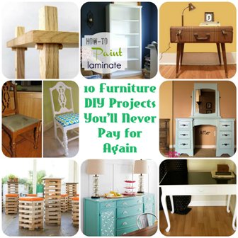 10 Furniture DIY Projects You'll Never Pay for Again