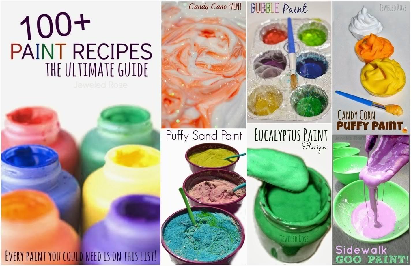 100+ Homemade Paint Recipes