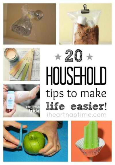 20 Household Tips To Make Life Easier