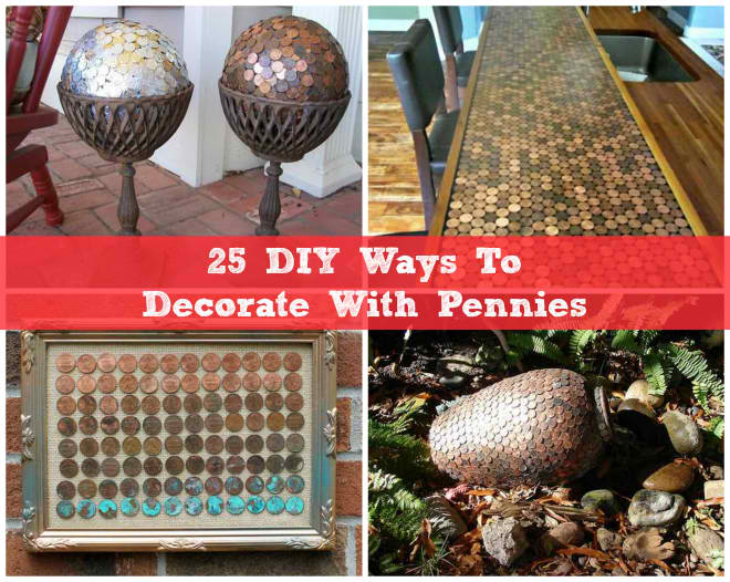25 DIY Ways To Decorate With Pennies