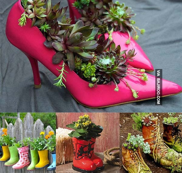 30 Bizarre DIY Garden Pot Ideas