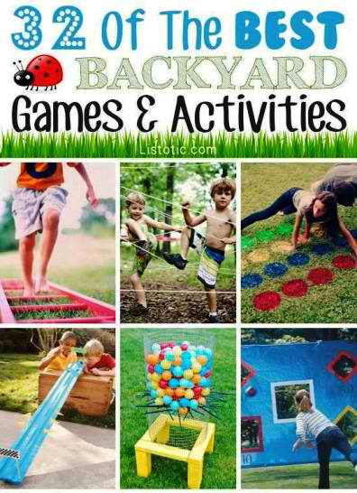 32 Fun DIY Backyard Games