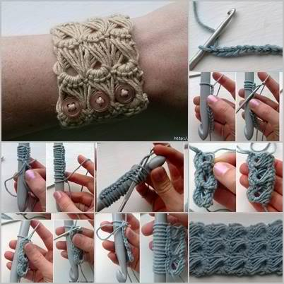 Broomstick Lace Bracelet Tutorial