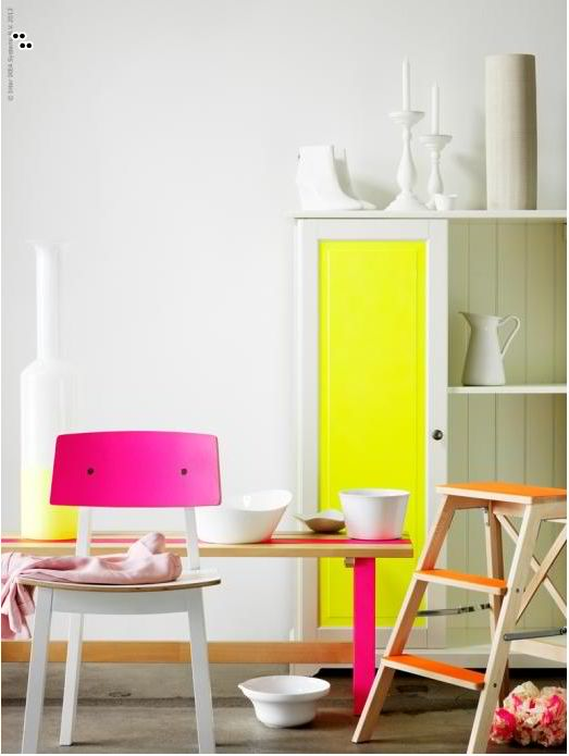Cheer Up a Space with Neon Colors