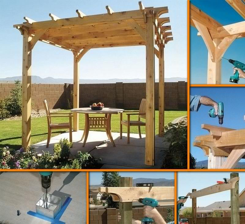DIY Backyard Pergola