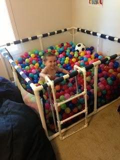 DIY Ball Pit For Your Kiddos