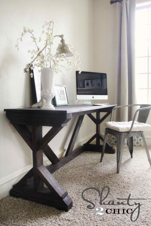 DIY Desk for Bedroom Farmhouse Style