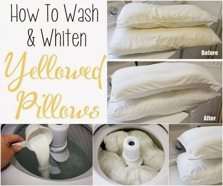 DIY Pillow Cleaning Tutorial