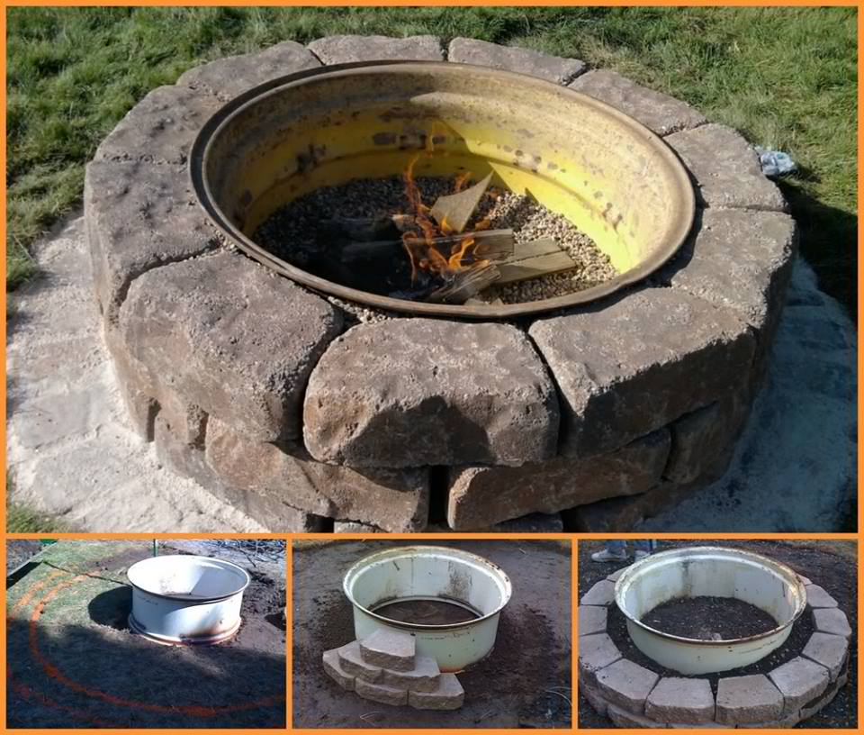 DIY Tractor Wheel Fire Pit