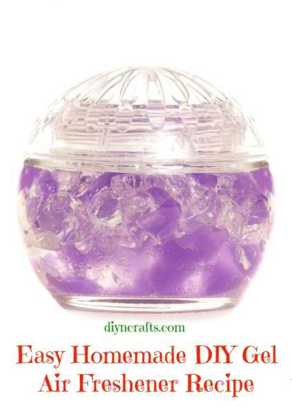 Easy Homemade DIY Gel Air Freshener Recipe