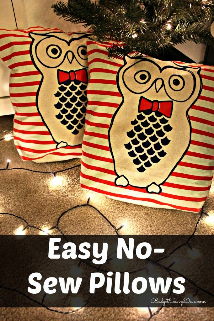 Easy No-Sew Pillows