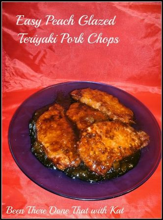 Easy Peach Glazed Teriyaki Pork Chops