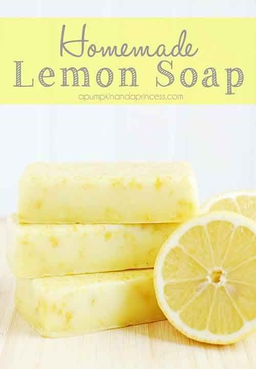 Homemade Lemon Soap
