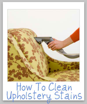 How To Clean Upholstery Stains without Paying Somebody