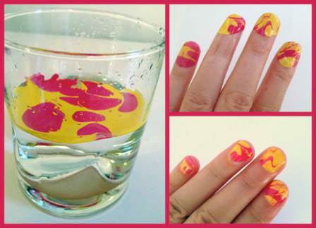 How To DIY Tie-Dyed Art Nail Art
