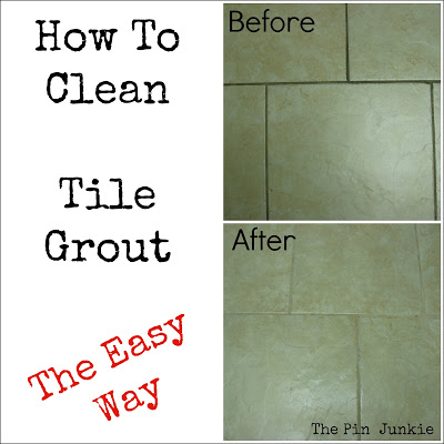 how to clean tile grout the easy way