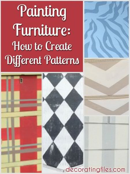 How to Create Different Patterns on Furniture