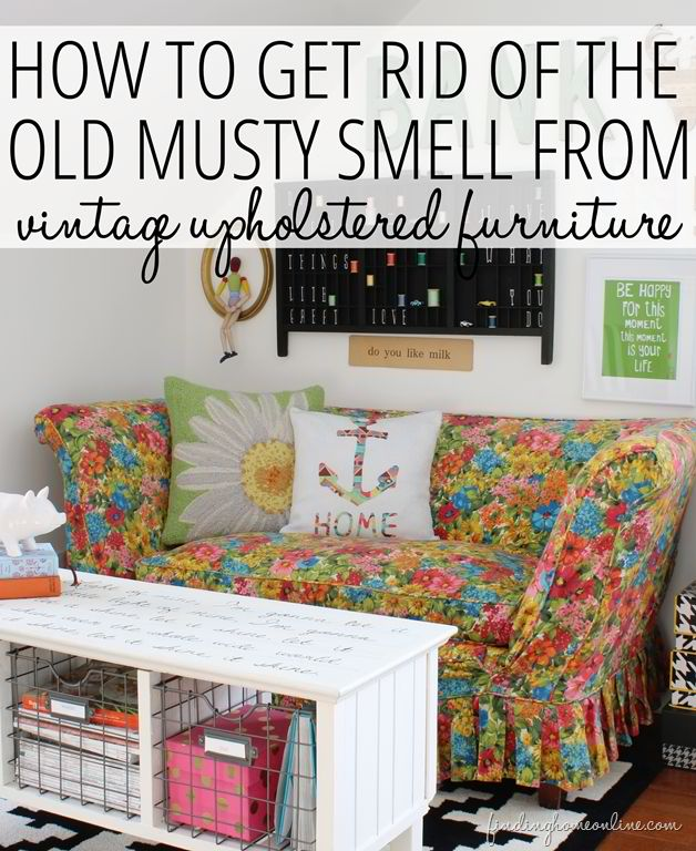How to Get Rid of (Remove) the Old Musty Smell From Vintage Upholstered