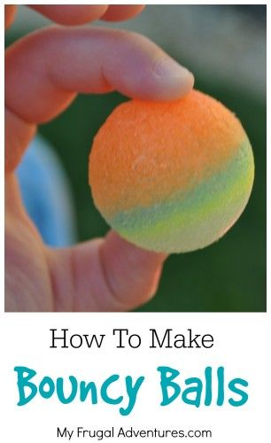 How to Make Homemade Bouncy Balls for Kids that Really Bounce