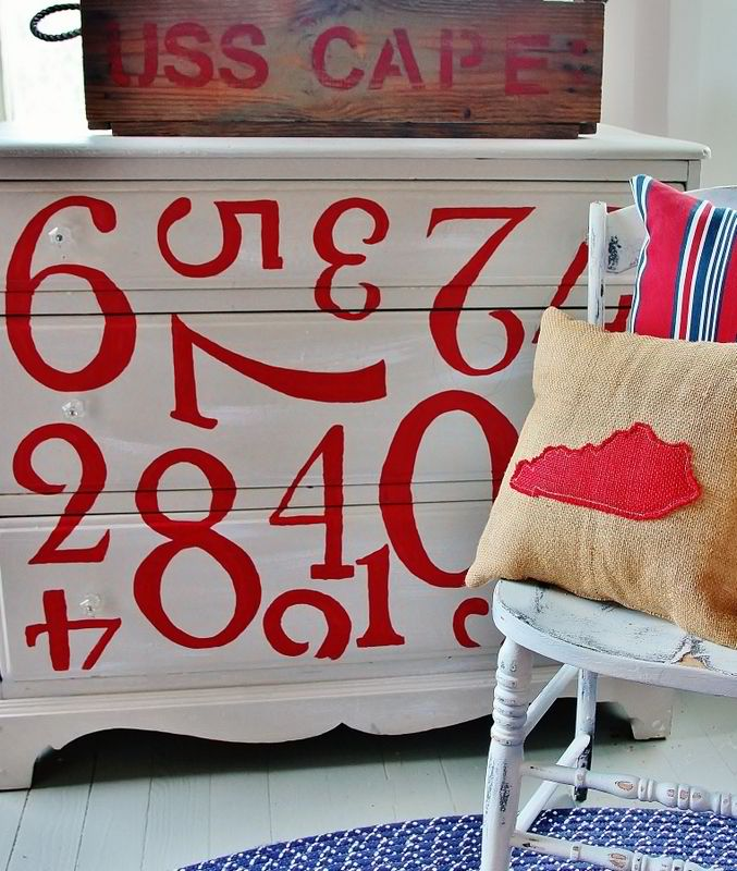 How to Paint a Dresser With Numbers