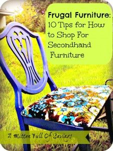 How to Shop for Secondhand Furniture