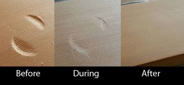 Magically Remove Dents From Wood
