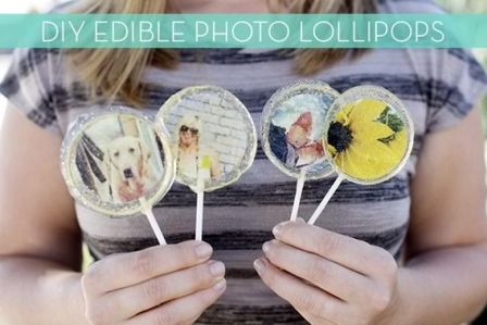 Make Your Own Edible Photo Lollipops