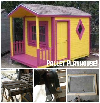 Make a Playhouse out of Pallets!