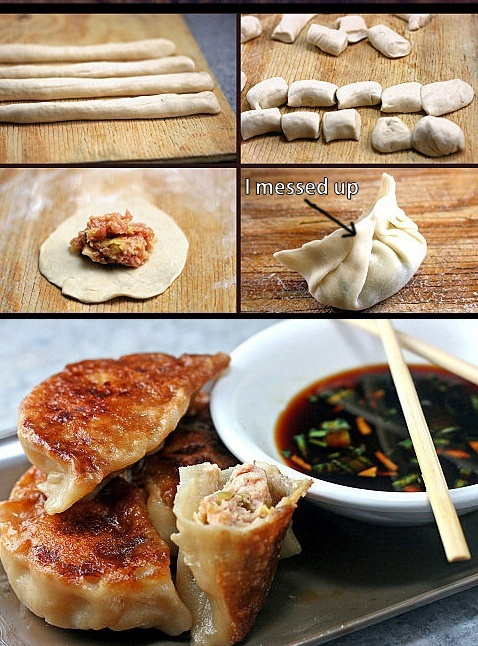 Making Asian Dumplings and Potstickers from Scratch