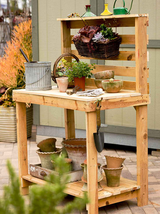 Pallet Potting Benches