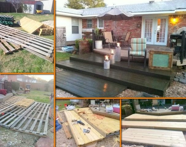 Perfect DIY Pallet Deck For Under $300