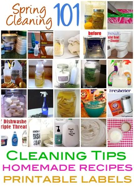 Spring Cleaning 101 Cleaning Tips, Homemade Recipes