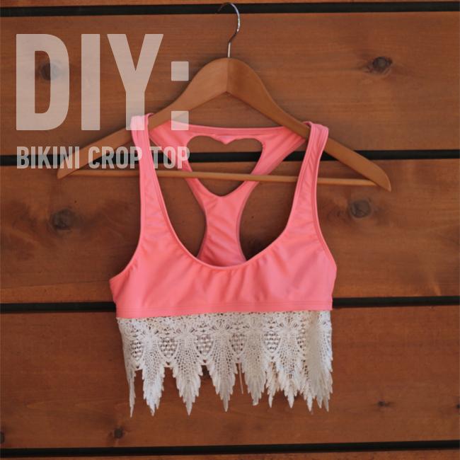 Turn A Bikini Into A Crop Top