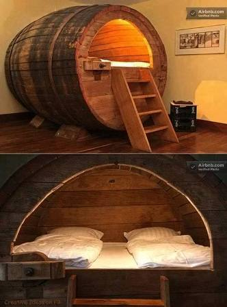 Vintage Beer Barrel Beds