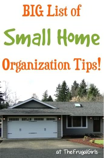 41 small home organization tips - Organize small space property ...