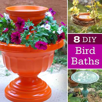 8 DIY Bird Baths