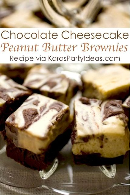 Chocolate Peanut Butter Cheesecake Brownies