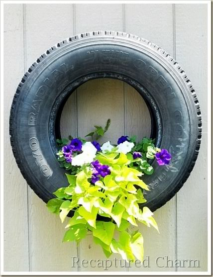Convert and Old Tire into a Hanging Planter
