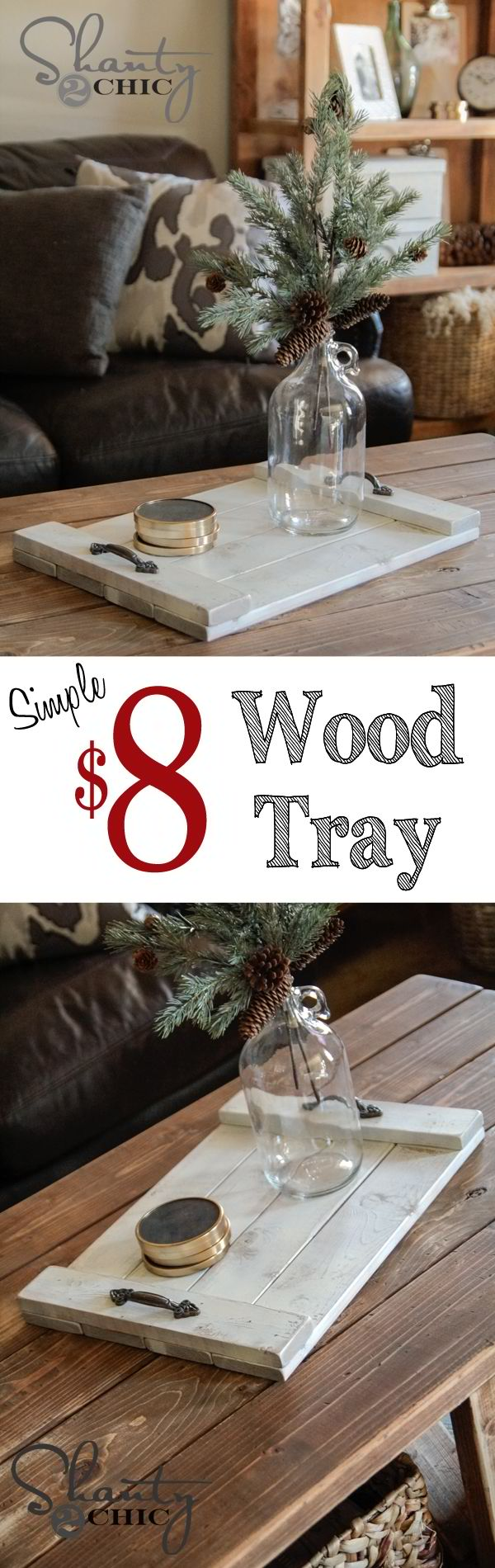 DIY $8 Wood Tray