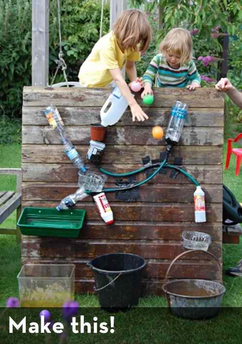 DIY Kids Water Wall