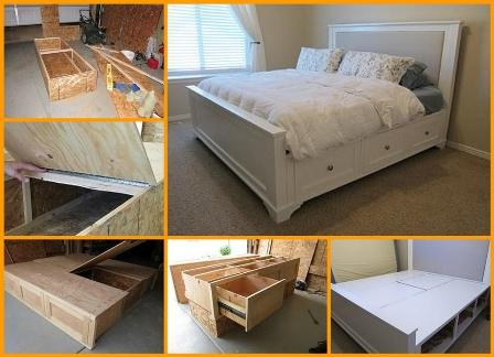 DIY King Sized Bed Frame Tutorial