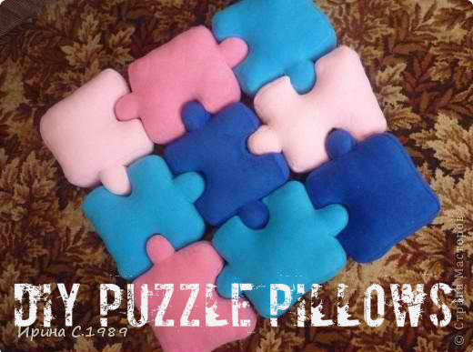 DIY Puzzle Pillows