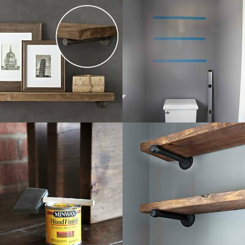 DIY RESTORATION HARDWARE-INSPIRED SHELVING